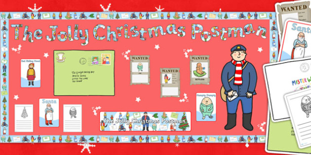 Ready Made Display Pack to Support Teaching on Jolly Christmas Postman - ready made
