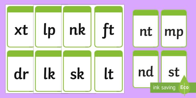 Phase 4 Phoneme Flash Cards - Phase 4 Sound Phoneme Frame Cards - phase 4, sound, phonemes, frame cards, cards,phonems