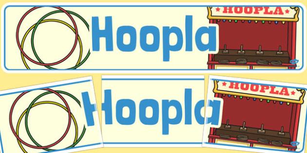 Hoopla Banner - hoopla, banner, summer fair, fayre, prize, win
