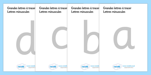 Large A-Z Tracing Letters (French) - tracing letters, handwriting, letter formation, writing practice, foundation, letters, writing, learning to write, DFES letters and sounds