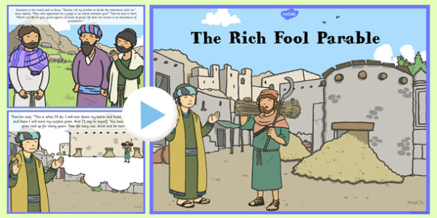 The Rich Fool Parable PowerPoint - parables, rich fool, powerpoint