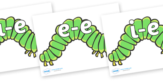 Modifying E Letters on Hungry Caterpillars to Support Teaching on The Very Hungry Caterpillar - Modifying E, letters, modify, Phase 5, Phase five, alternative spellings for phonemes, DfES letters and Sounds