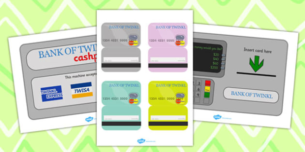 Bank Role Play Cash Machine - activities, games, banks, money