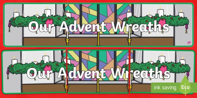 Our Advent Wreaths Banner -  advent, christmas, banner, wreath, xmas, decoration, xmas
