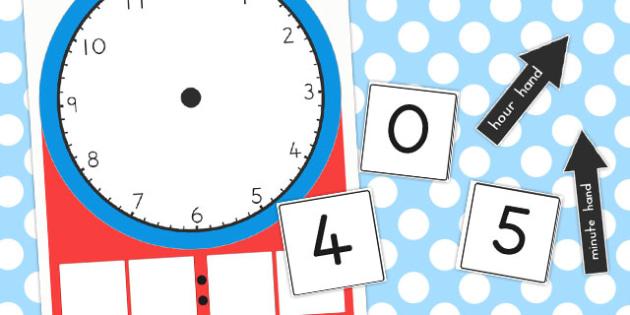 Analogue and Digital Clock Teaching Activity - australia, digital