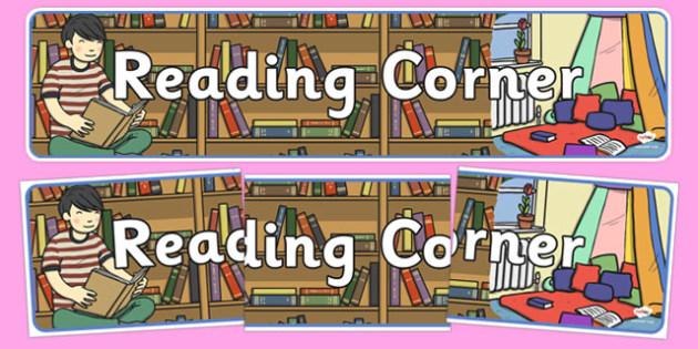 Reading Corner Display Banner - reading corner, display banner, display, banner, reading, read