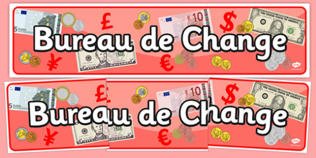 Bureau de change display banner travel agent holiday for Bureau change