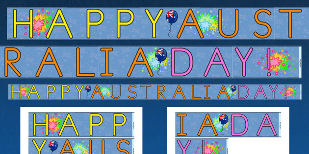 Happy Australia Day Display Border - australia, australia day