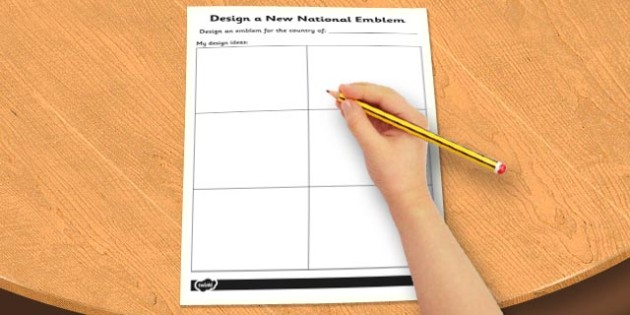 Design a New National Emblem Activity Sheet - design, activity, worksheet