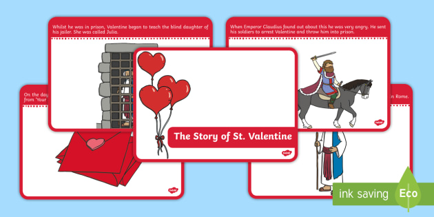The Story of Saint  Valentine Sequencing Cards - EYFS, Early Years resources, festivals