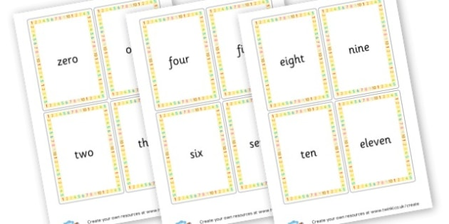 Written Number Cards 0-20 - Number Counting Activity Primary Resources, count, flashcards