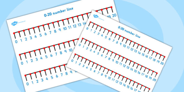 Numbers 0 to 20 Number Line - numbers, 0-20, numberline, math