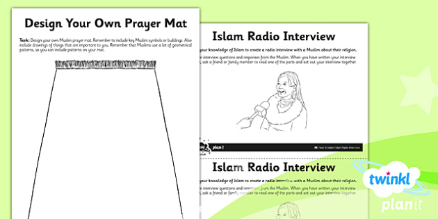 PlanIt - RE Year 3 - Islam Unit Home Learning Tasks - planit, re, religious education, year 3, islam, home learning tasks