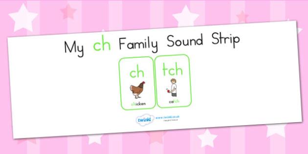 My Ch Family Sound Strip - sound family, visual aid, literacy