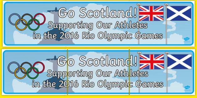 Scotland 2016 Rio Olympics Display Banner - scorland, rio 2016, 2016 olympics, rio olympics, display banner, display, banner