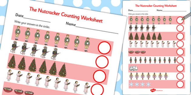 The Nutcracker Counting Sheet - nutcracker, counting, sheet