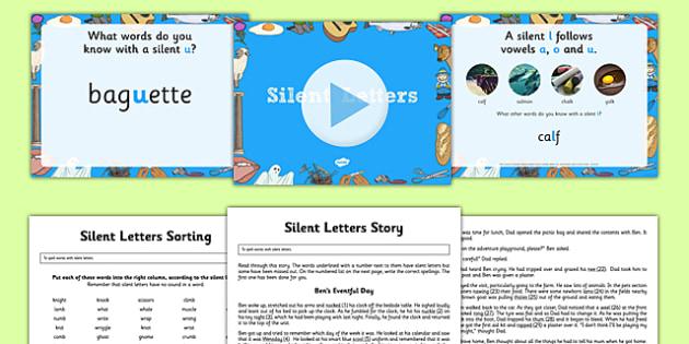 Silent Letters Activity Pack - silent letters, activity pack, activity, pack, silent, letters