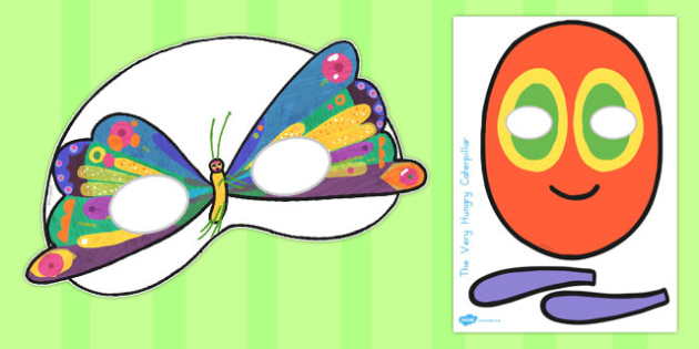 Role-Play Masks to Support Teaching on The Very Hungry Caterpillar - australia, caterpillar