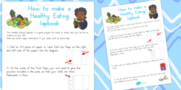 Healthy Eating Lapbook Instructions Sheet - Healthy, Eating, Food