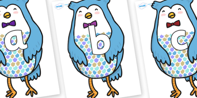 Phoneme Set on Owl - Phoneme set, phonemes, phoneme, Letters and Sounds, DfES, display, Phase 1, Phase 2, Phase 3, Phase 5, Foundation, Literacy