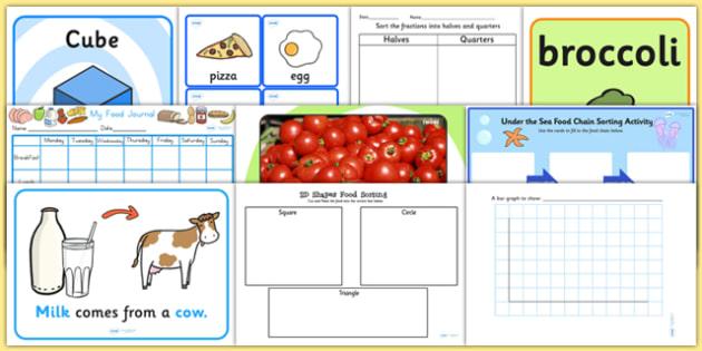 Food KS1 Lesson Plan Ideas and Resource Pack - Food, Pack, KS1
