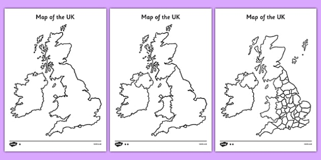 Blank UK Map - blank, uk, map, uk map, britain, islands, blank map
