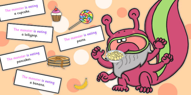 Feed the Monster Sentence Activity - sentence, monster, activity