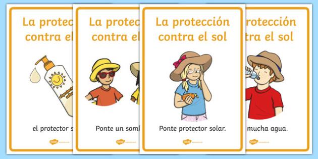 Pósters de protección contra el sol - póster, la protección contra el sol