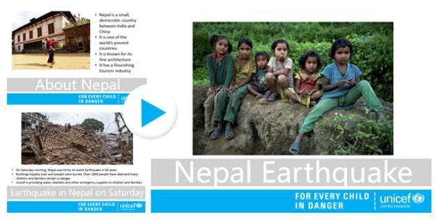 Nepal Earthquake Unicef UK Secondary School Assembly - unicef