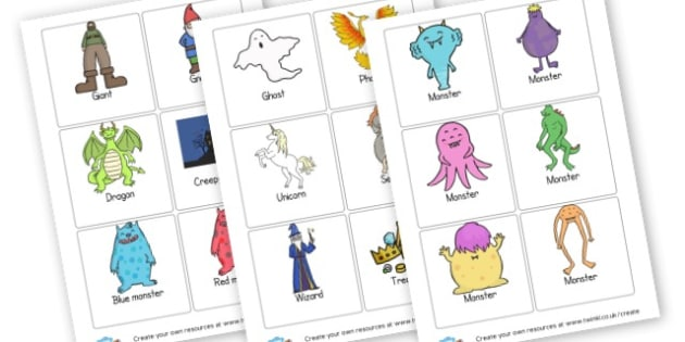 Story Prompt Cards - Storybook Primary Resources, Story Sack, Elmer, Gruffalo, BearHunt