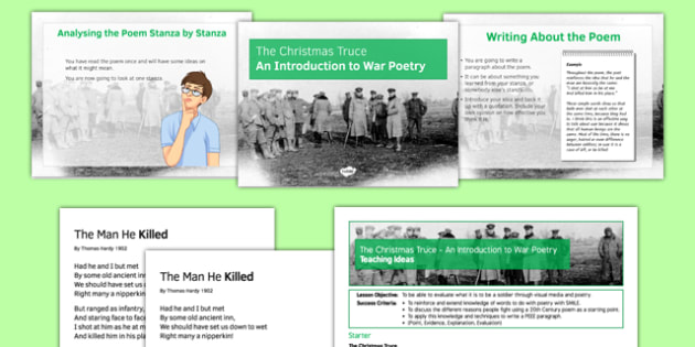 The Christmas Truce: An Introduction to War Poetry Lesson Pack - christmas truce, poetry, war