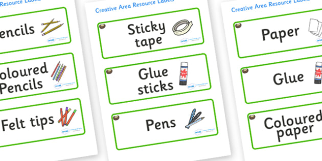 Conker Themed Editable Creative Area Resource Labels - Themed creative resource labels, Label template, Resource Label, Name Labels, Editable Labels, Drawer Labels, KS1 Labels, Foundation Labels, Foundation Stage Labels