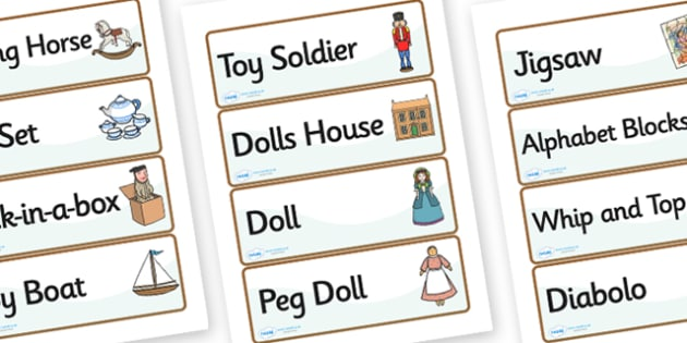 Victorian Toy Shop Role Play Labels - victorian toy shop, role play, victorian toy shop labels, victorian role play labels, role play toy shop labels