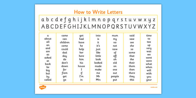 Handwriting Strip With High Frequency Words Prompt - handwriting strip, high frequency words, prompt