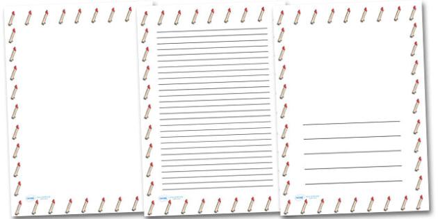 Arm Portrait Page Borders- Portrait Page Borders - Page border, border, writing template, writing aid, writing frame, a4 border, template, templates, landscape