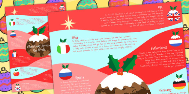 Christmas Around the World Poster A4 - australia, christmas, a4