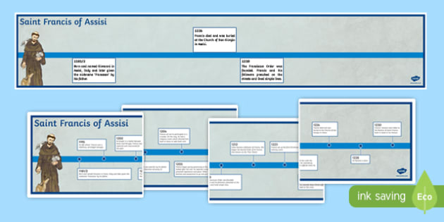 Saint Francis of Assisi Display Timeline