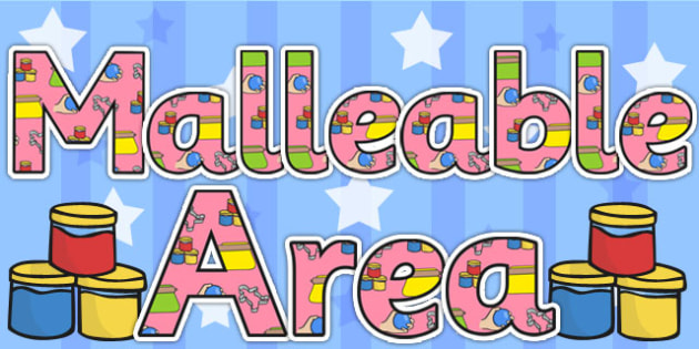 Malleable Area Display Lettering - malleable area, letters, areas