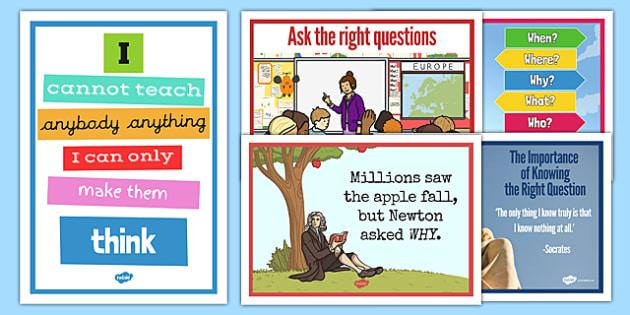 Socratic Questioning Display Posters - socratic questioning, questioning, discussion, philosophy