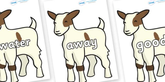 Next 200 Common Words on Baby Goats - Next 200 Common Words on  - DfES Letters and Sounds, Letters and Sounds, Letters and sounds words, Common words, 200 common words