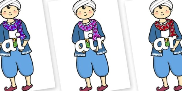 Phase 3 Phonemes on Rich Aladdin - Phonemes, phoneme, Phase 3, Phase three, Foundation, Literacy, Letters and Sounds, DfES, display