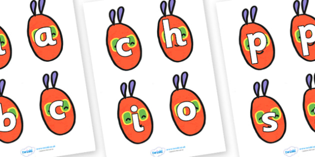 Spelling Game to Support Teaching on The Very Hungry Caterpillar - Eric Carle, CVC words, activity, three phoneme words, three sound words, consonant vowel consonant, words, three letter words, letters and sounds, spelling, literacy game, word game