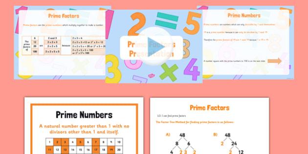 Prime Factors Pack - Key Stage 2, Prime Factors, Prime Numbers, maths