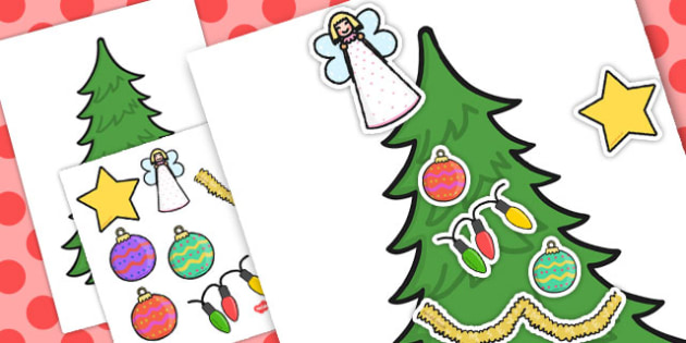 Decorating a Christmas Tree Pack - christmas tree, pack, decorate