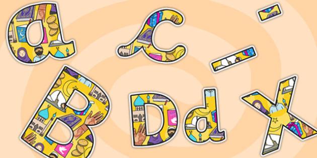 Eid A4 Display Lettering Lowercase-eid, display, lettering, display lettering, letering for display, eid lettering, islam, eid display, A4