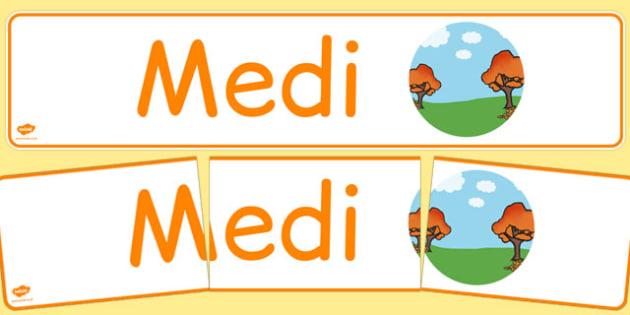 Medi Display Banner Cymraeg - cymraeg, year, months of the year, september