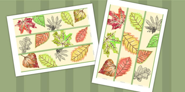 Drawn Leaves Display Banner - Banners, Displays, Visual, Posters