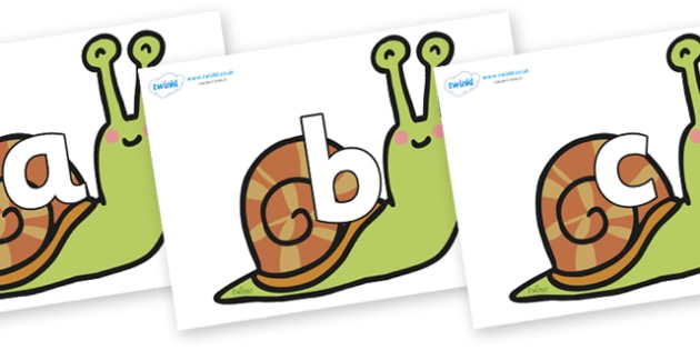 Phoneme Set on Snails - Phoneme set, phonemes, phoneme, Letters and Sounds, DfES, display, Phase 1, Phase 2, Phase 3, Phase 5, Foundation, Literacy