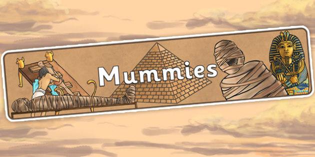 Mummies Display Banner - ancient egypt, egyptians, egypt, header