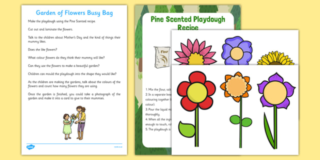 Garden of Flowers Busy Bag Resource Pack for Parents - Mother's Day, Flowers, Growing, Gardens